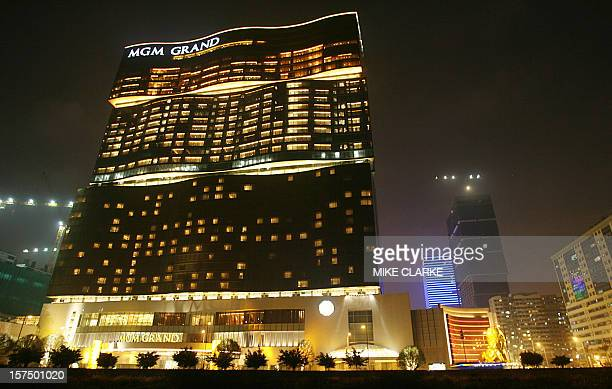 The exterior of the MGM Grand Macau is seen 18 December 2007 Eyeing the high rollers gaming giant MGM Mirage opens its only casino resort outside the...