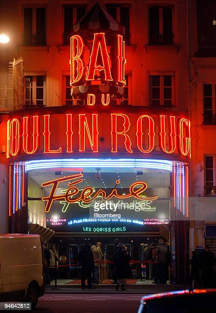 The exterior of the Moulin Rouge is seen in Paris France on Tuesday Feb 13 2007 Topless dancers magicians and transvestites all add up to one thing...