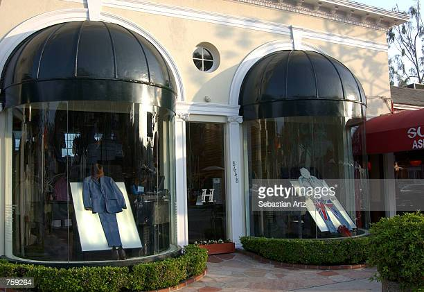 The exterior of the new Sunset Plaza HMen boutique is shown April 11 2002 in Los Angeles CA