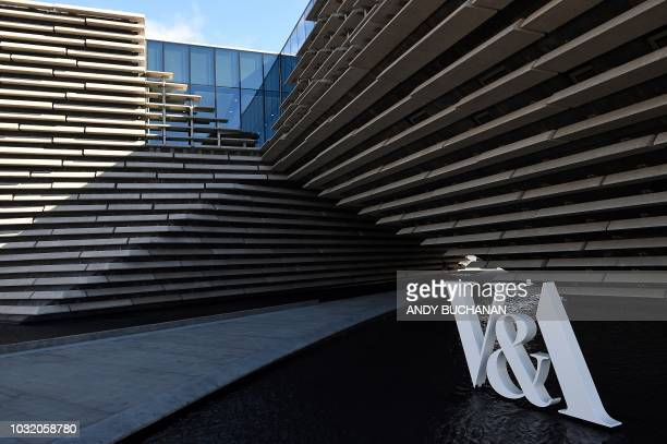 The exterior of the new VA Dundee museum designed by Japanese architect Kengo Kuma is pictured during a press preview for its opening in Dundee east...