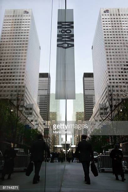 The exterior of the newly remodeled Museum of Modern Art is shown during a media preview November 15 2004 in New York City The new museum designed by...