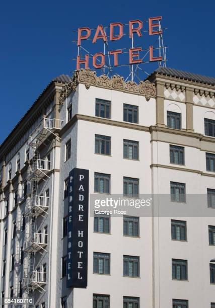 The exterior of the Padre Hotel is viewed on April 4 in Bakersfield California California Highway 58 stretches across the central part of state...