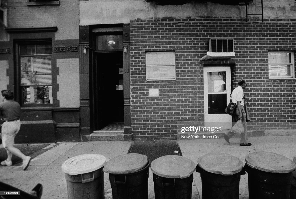 The exterior of the Ravenite Social Club where New York mob boss John Gotti (1940 - 2002) and his associates met, New York, New York, August 8, 1991.