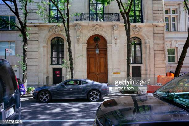 The exterior of the residence owned by Jeffrey Epstein on the Upper East Side is seen on July 15, 2019 in New York City. A judge is prepared to rule...