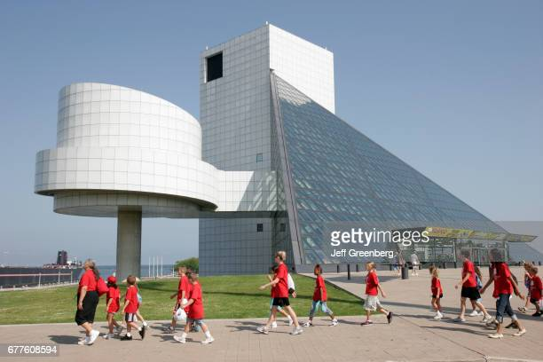 The exterior of the Rock and Roll Hall of Fame