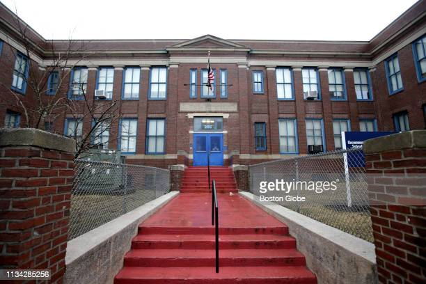 The exterior of the Roxbury Preparatory Charter School in the Dorchester neighborhood of Boston is pictured on March 22 2019 Roxbury Preparatory...