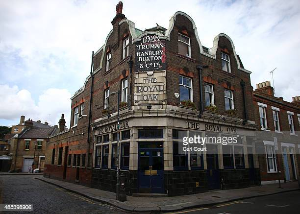 The exterior of the Royal Oak pub on Columbia Road is pictured on August 27 2015 in London England The Royal Oak pub was named as one of 21 interwar...
