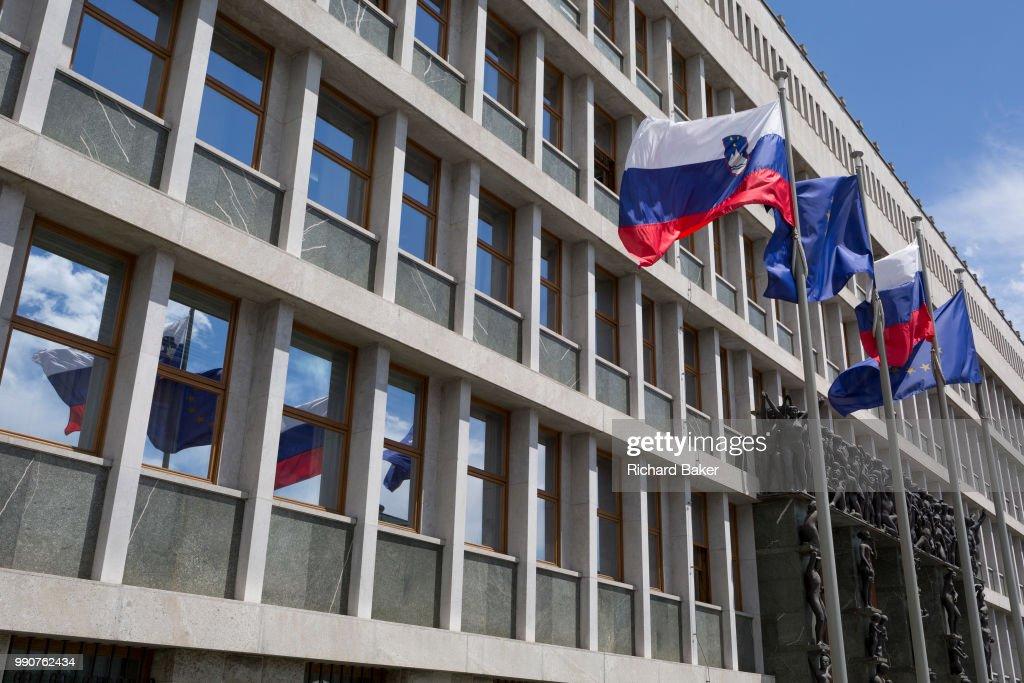 Slovenian National Assembly Building : News Photo