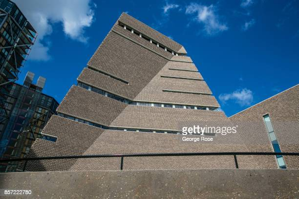 The exterior of the Tate Modern Museum is viewed from ground level on September 13 in London England Great Britain's move toward Brexit or the...