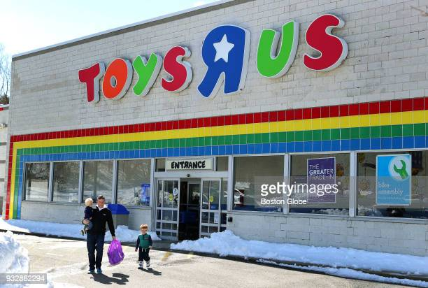The exterior of the Toys R Us store in Kingston MA is pictured on March 15 2018 The company is declaring bankruptcy and closing all of its stores