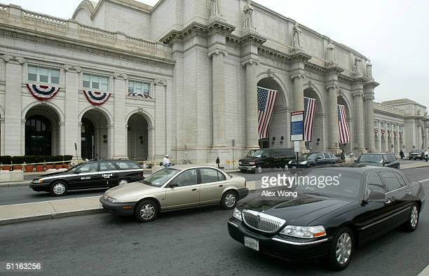 The exterior of the Union Station is seen August 12, 2004 in Washington, DC. First opened in 1907, the station was once the world largest train...