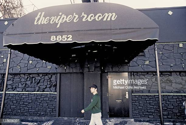 The exterior of The Viper Room the morning after the death of actor River Phoenix on November 1 1993 in Los Angeles California