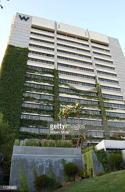 The exterior of the W Hotel is seen prior to hosting People Magazine's Top 50 Bachelors Party on June 27 2002 in Westwood California