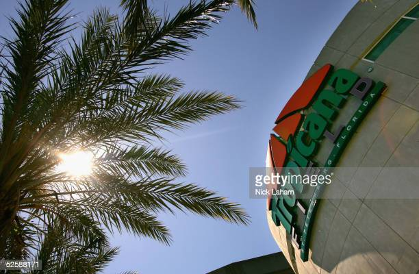 The exterior of Tropicana Field is seen before the Tampa Bay Devil Rays home opener against the Toronto Blue Jays at Tropicana Field on April 4, 2005...
