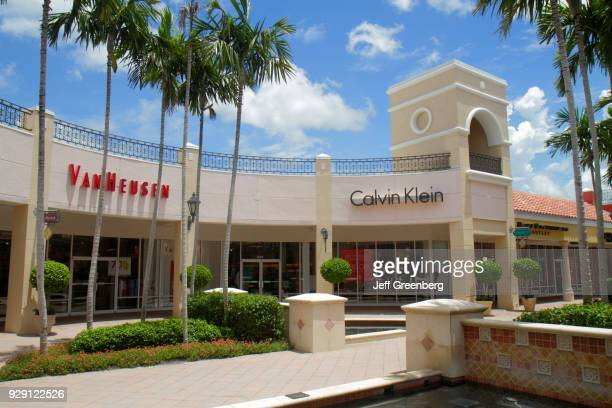 The exterior of Van Heusen and Calvin Klein at Miromar Outlets