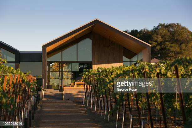 The exterior tasting room at Silver Oak Cellars winery is viewed on October 7 near Healdsburg California A cool spring and mild summer have...