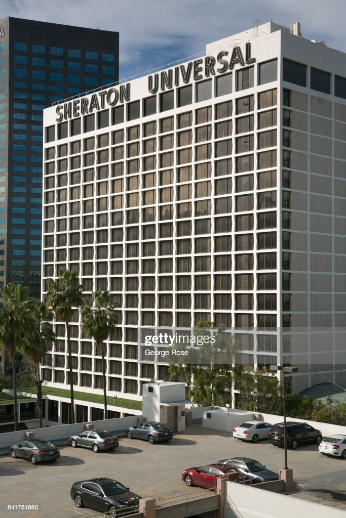 The exterior to the Sheraton Universal Hotel