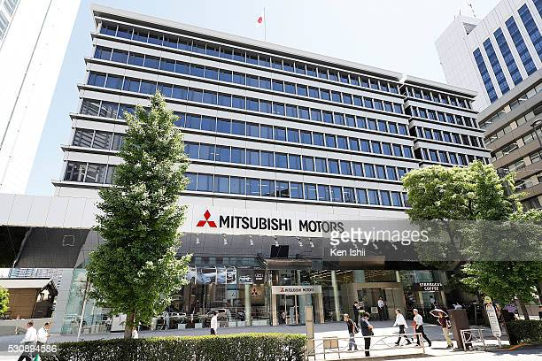 The exterior view of Mitsubishi Motors on May 12 2016 in Tokyo Japan Japanese media reported that Nissan Motor confirmed that the two parties are in...