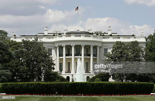 The exterior view of the south side of the White House is seen May 31 2005 in Washington DC Vanity Fair Magazine reported that former FBI official W...