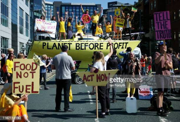 The Extinction Rebellion environmental protest group begin a series of planned week long protests collectively called 'Project Mushroom' by blocking...