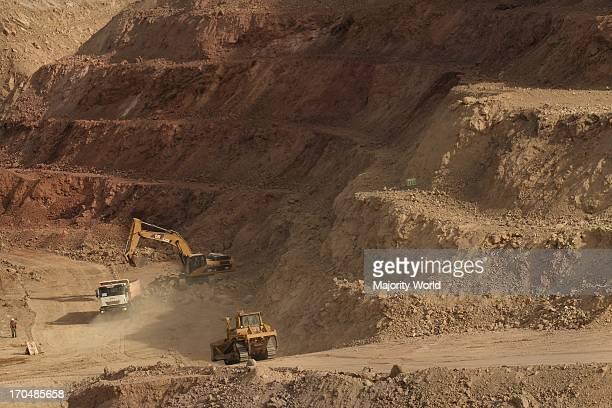 The extraction of copper in a Peruvian mine Arequipa Peru April 9 2008