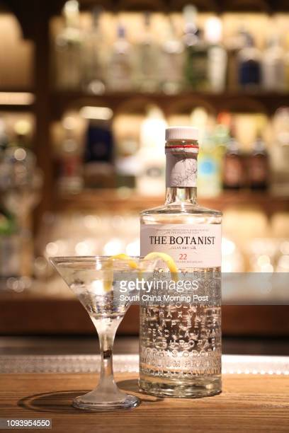 The Extradry Martini with the Botanist gin and lemon peel from Dr Fern's Gin Parlour in Landmark Atrium in Central Hong Kong on February 21 2017...