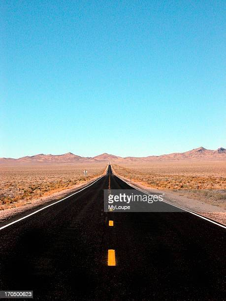 The Extraterrestrial Highway Highway 375 South Of Rachel Nevada Passes Near The Infamous Area 51