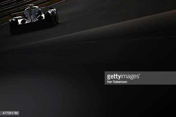 The Extreme Motorsports Ligier of Ed Brown Johannes van Overbeek and Jonathan Fogarty drives during the Le Mans 24 Hour race at the Circuit de la...