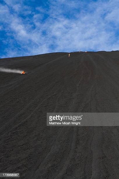 The extreme sport of Volcano Boarding