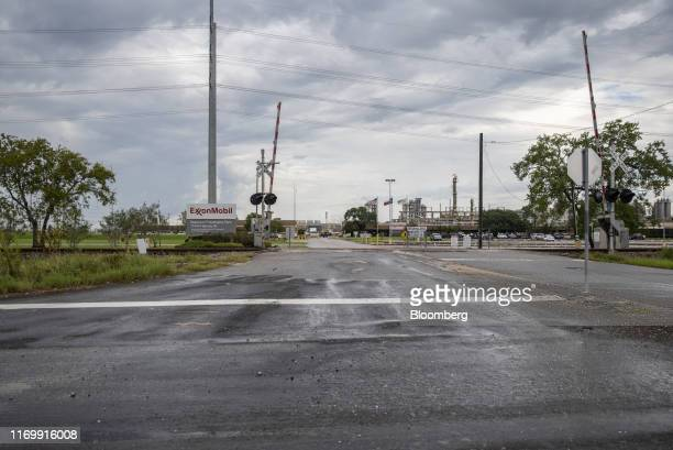 The Exxon Mobil Corp Beaumont Polyethylene Plant stands following Tropical Storm Imelda in Beaumont Texas US on Friday Sept 20 2019 The remnants of...