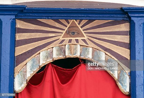 The eye of God decorative iconostasis in the Church of the Holy Trinity Kastellorizo island Greece