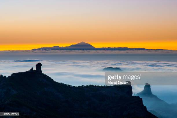 the eye of the ocean - pico de teide stock pictures, royalty-free photos & images