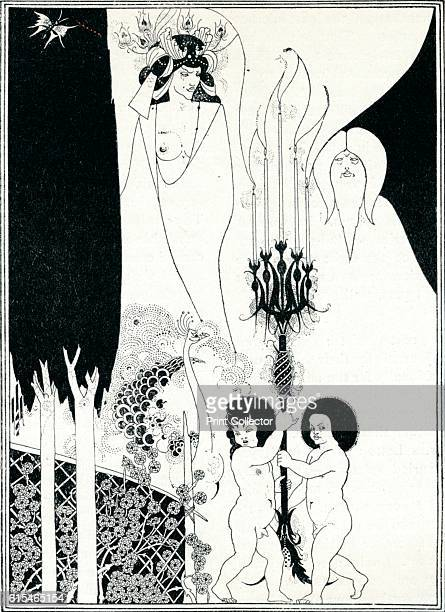 The Eyes of Herod' . An illustration for 'Salome' by Oscar Wilde. Aubrey Vincent Beardsley was an English illustrator and author. His drawings in...