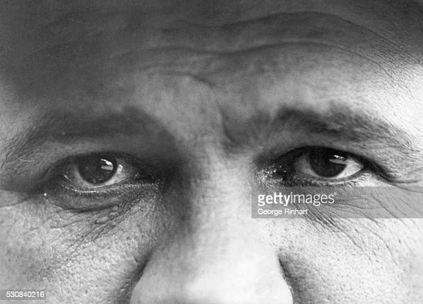 The eyes of New York Yankees ball player Babe Ruth