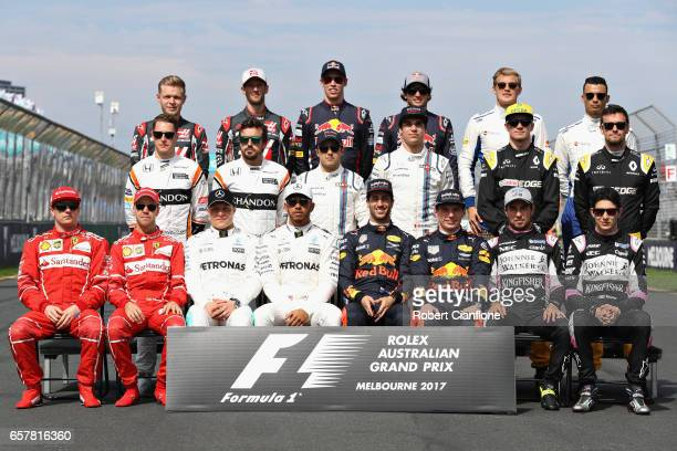 The F1 Drivers Class of 2017 photo during the Australian Formula One Grand Prix at Albert Park on March 26 2017 in Melbourne Australia