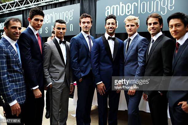 The F1 drivers Marc Gene Esteban Ocon of France and Renault Sport F1 Pascal Wehrlein of Germany and Manor Racing Jolyon Palmer of Great Britain and...