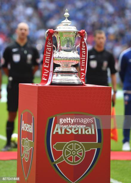 The FA Cup before the FA Community Shield match between Chelsea and Arsenal at Wembley Stadium on August 6 2017 in London England