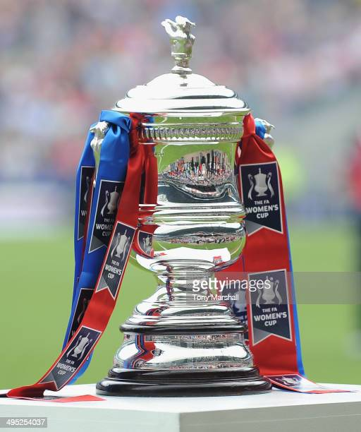 The FA Women's Cup trophy during the FA Women's Cup Final match between Everton Ladies and Arsenal Ladies at Stadium mk on June 1 2014 in Milton...