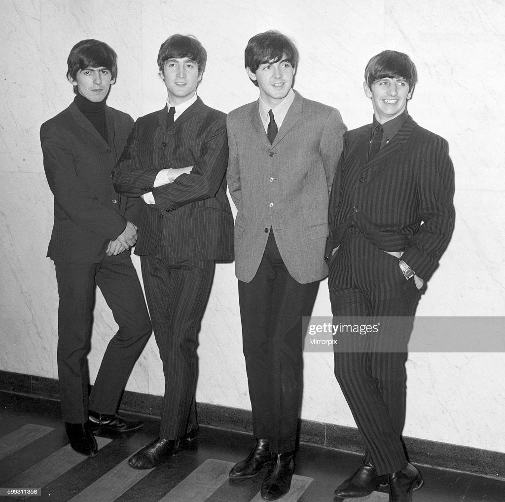 The Fab Four Left To Right George Harrison John Lennon Paul McCartney