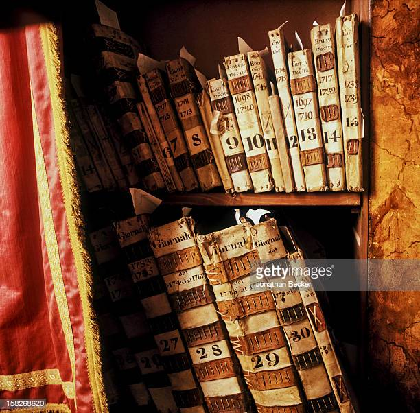 The fabric archives at the Florentine silk works owned by Pucci are photograhed for Vanity Fair Magazine on July 27, 2000 in Florence, Italy....