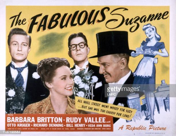 The Fabulous Suzanne poster front from left Barbara Britton Otto Kruger rear from left Richard Denning Rudy Vallee 1948