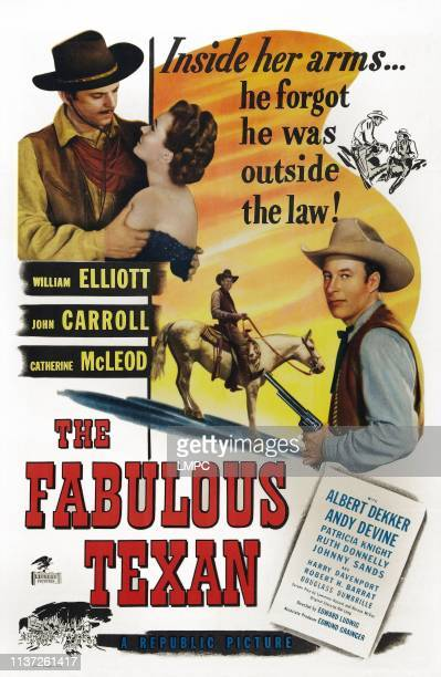 The Fabulous Texan poster poster art lr John Carroll Catherine McLeod Bill Elliott 1947