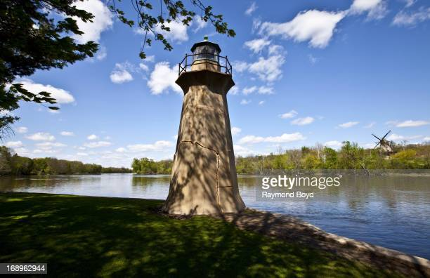 The Fabyan Lighthouse, sits in Fabyan Forest Preserve in Geneva, Illinois on MAY 12, 2013.