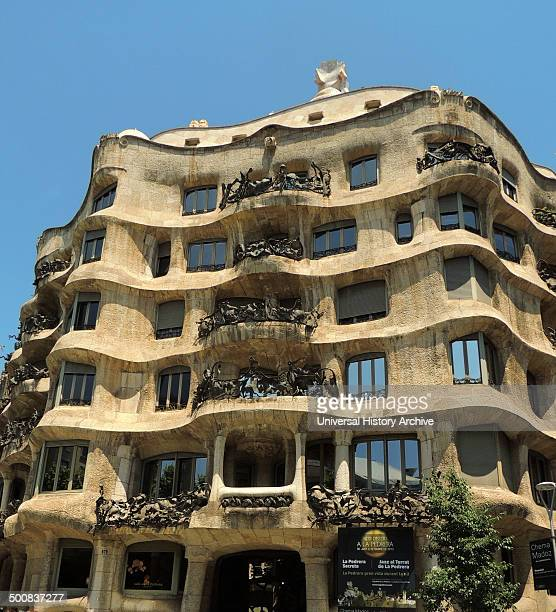 the facade of Casa Milà known as La Pedrera is a building designed by the Catalan architect Antoni Gaudi and built during the years 1906–1912 It is...