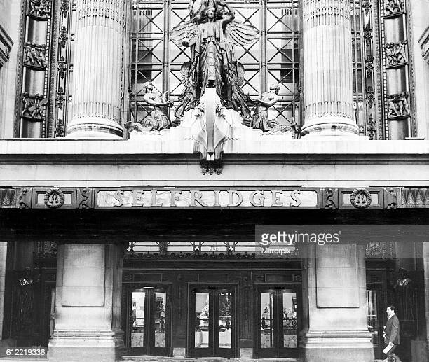 The facade of Selfridges store in Oxford Street, London . August 1973.