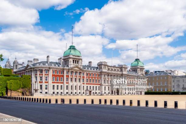 the facade of the 18th century admiralty house on horseguards parade, westminster, central london, no people - building exterior stock pictures, royalty-free photos & images