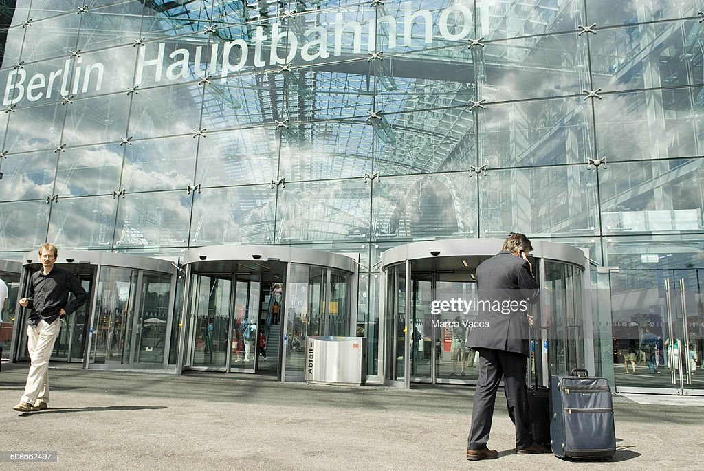 The facade of the Berlin Hauptbanhof, completed in 2006 is the biggest multilevel station in Europe