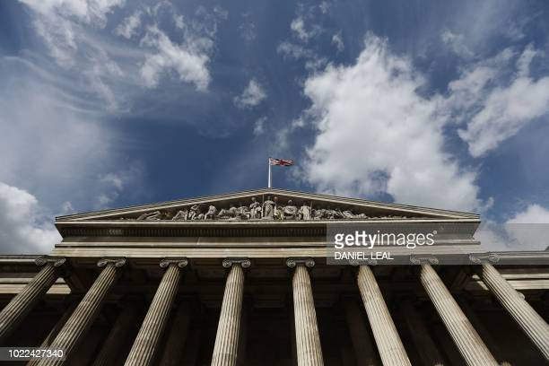 The facade of the British Museum is pictured in central London on August 24, 2018.