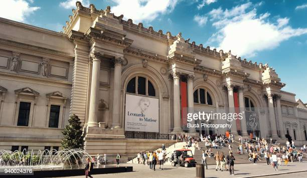 The facade of the famous MET (Metropolitan Museum of Art), one of the world's largest art museums, on 5th Avenue in Midtown Manhattan, New York City