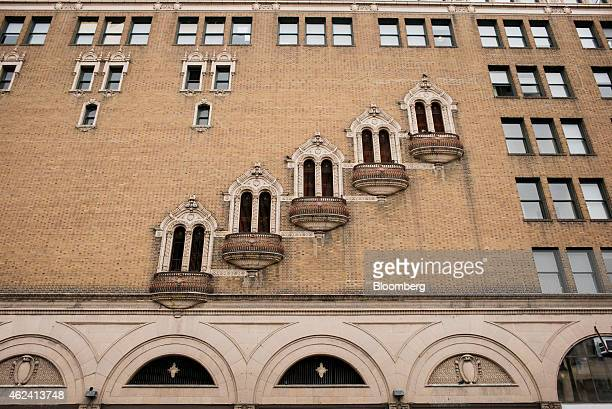 The facade of the Golden Gate Theater is seen in the Tenderloin district of San Francisco California US on Monday Jan 19 2015 In a city where wealth...